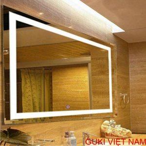 Gương phòng tắm hình chữ nhật có đèn led treo tường