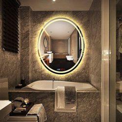 Gương đèn led hình Oval treo trong nhà tắm phòng tắm