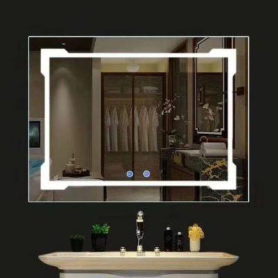 Gương đèn led nhà tắm hình chữ nhật cao cấp