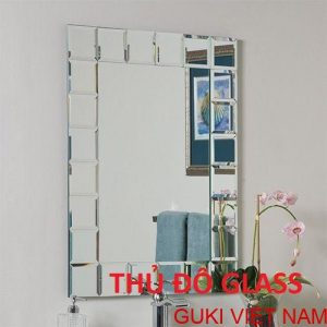 Gương ghép nghệ thuật treo tường phòng tắm