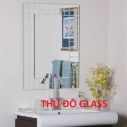 Gương phòng tắm khắc nghệ thuật treo tường